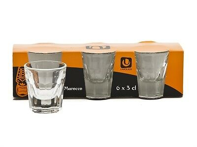 Set Of 6 Marocco Water Tumbler Glass Drinking Beer Wine Spirit Party Cafe Bar