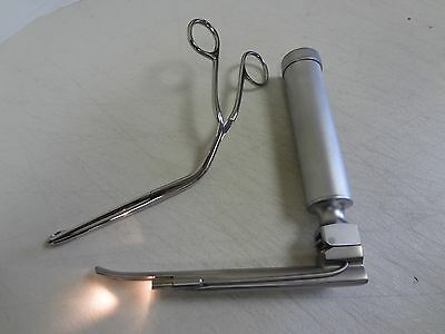 Blade+Handle+ Magill Forceps Surgical Instruments (#4 Blade, Small Handle)