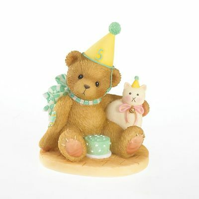 Enesco Cherished Teddies 4020576 A Purrfect Day To Be Five Birthday Figurine NIB