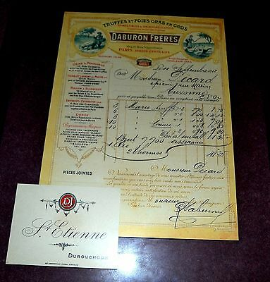 Vintage French Wine Label and Menu and Receipt
