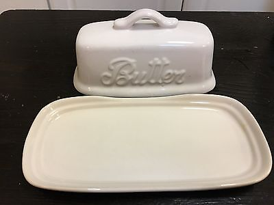 Antique Vintage Butter Dish Unbranded