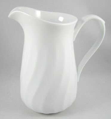 "Corelle Corning Enhancements White Swirl 32 Oz Pitcher 7 1/4"" USA"