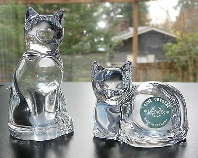 Lenox Crystal Cat Salt and Pepper Shakers