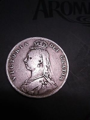 1887 queen victotoria jubilee silver coin and 1887 queen victoria shiling silver