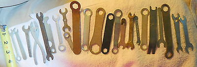Vintage lot of 23 power tool,lathe,ignition,adjustment tools,collection of tools