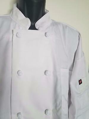 XL White Long Sleeve 10 knot button Double breasted Chef Coat RITZ NEW