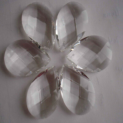10X Clear Chandelier Glass Pendant Crystal Lamp Prism Part Hanging Drop Wedding
