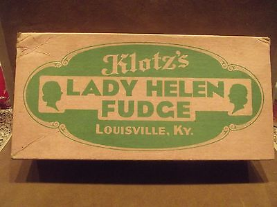 Vintage Candy Box ~ Klotz's Lady Helen Fudge ~ Louisville, Ky