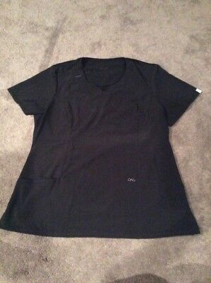 Infinity Scrub Top Size Large Black