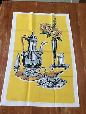 NANNA'S VINTAGE LINEN SOUVENIR TEA TOWEL  ~* As New ! Never Used !