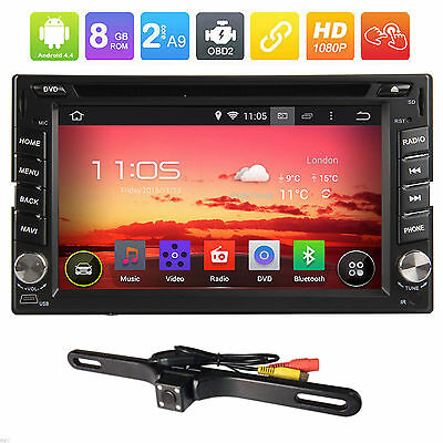 """Dual Core Android 4.4 3G WIFI 6.2"""" Double 2DIN Car Radio Stereo DVD Player GPS"""