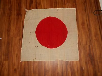 VINTAGE Antique Japan Japanese WW2 WWII World War 2 Meatball Flag  28x28 12B