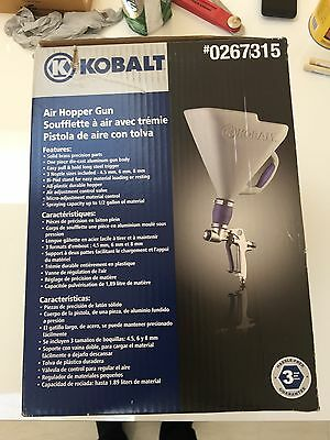 NIB Kobalt 3-ft Gravity Hopper Gun Solid-Brass Bi-Pod Durable Sprayer 3 nozzle