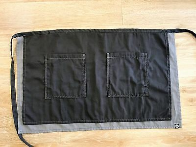 Chef Works Charcoal Grey and Frost Apron Soho Half Bistro Apron NEW No Tags