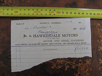 Hawkesdale Motors A G Hill Dawson St  Motor Engineers