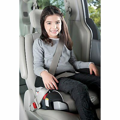 Car Seat Booster Child Toddler Kid Backless Safety Graco Baby Cup Holders Black