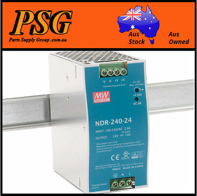 NDR-240-24 / NDR-240-48 MEAN WELL - DIN Rail Power Supply