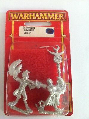 Fantasy 40k Age Of Sigmar Daemons Army OOP Daemonettes Slaanesh Command Squad