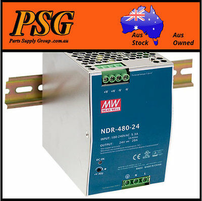 NDR-480-24 / NDR-480-48 MEAN WELL - DIN Rail Power Supply