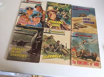 JOB LOT, 12 x COMMANDO COMICS, AS THE PHOTOGRAPHS, RARE.
