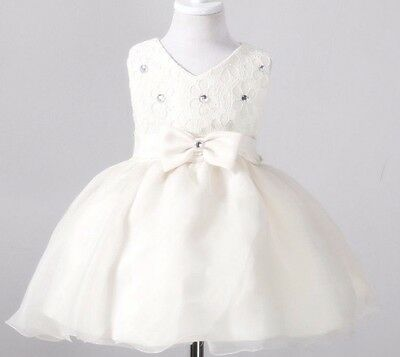 New Katie Baby Flower Girl Christening Gown Formal Dress Wedding Gift Bridesmaid