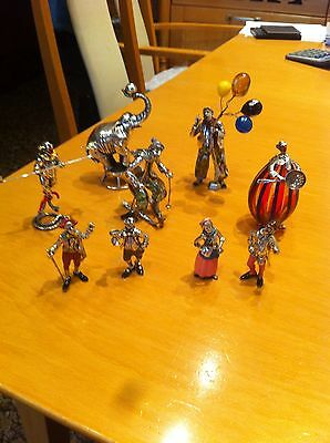 Magnificent Solid Silver Enamel Circus Group Figures Tiffany&co Style