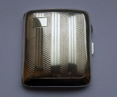 Antique Sterling Silver Cigarette Case - B'ham 1927 - 97 g - Deakin & Francis