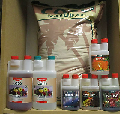 Canna Coco Nutrients Additive Pack 50L Growing Media 1L A&B 250Ml Additives