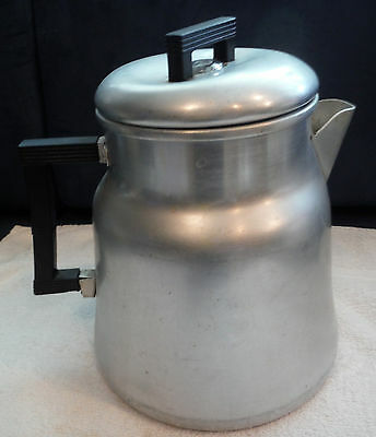 Vtg WEAR-EVER #3016 Aluminum Percolator Coffee Pot 16 Cup for Camping XL Size