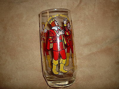 Vintage Burger King Glass from 1979 Burger King Collectors' Series