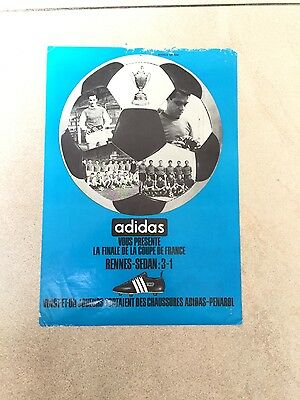 Adidas  From 1965 Football France Cup Finale Vintage Matchballs Rare Booklet