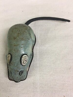 Antique Tin Mechanical Mouse Toy (lh442)