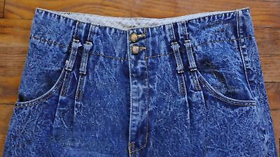 Vtg 90s 80s High Waist Pleated Boyfriend Mom Jeans Stone Washed 10 Bill Blass