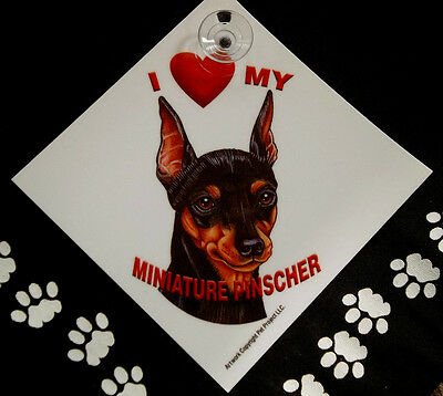 Miniature Pinscher Auto Decal