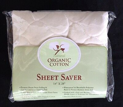 American Baby Company Waterproof Quilted Sheet Saver made with Organic Cotton