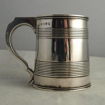 Fine George III Solid Silver Mug - London 1811.