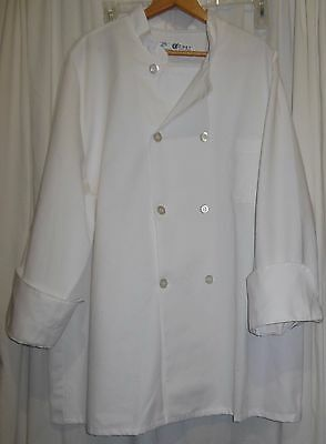 Chef Designs Chef Uniform Men's Size Extra Large Chef Coat 8 Button Long Sleeve