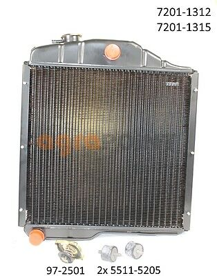 Zetor - Shiny radiator complett - 7201 1312 7201 1315 7201 1307 - by agrapoint