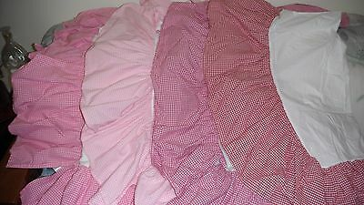 POTTERY BARN Kids Crib Skirt 4 GINGHAM Color Choices You Pick