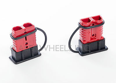 2 Connector Kit, #8Awg, Sb50A 600V, Anderson, Red, Quick Connect, Disconnect