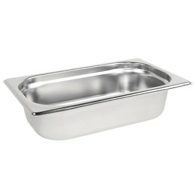 Vogue Stainless Steel 1/4 Gastronorm Pan 65mm Kitchen Container Food Storage