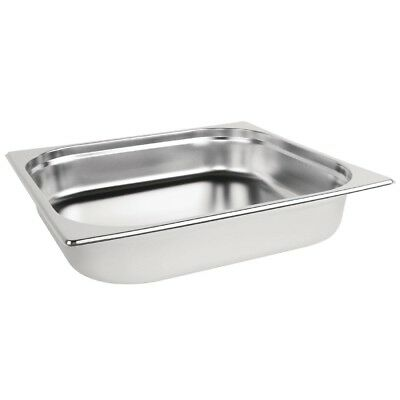 Vogue Stainless Steel 2/3 Gastronorm Pan 65mm Kitchen Container Food Storage