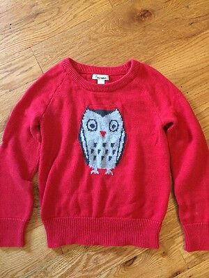 Owl Sweater Old Navy Small 6/7