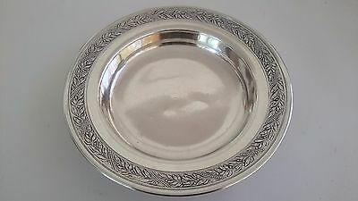 Antique French Sterling 950 Small Plate A La Gerbe d'Or Laurel Leaf A. Chapus