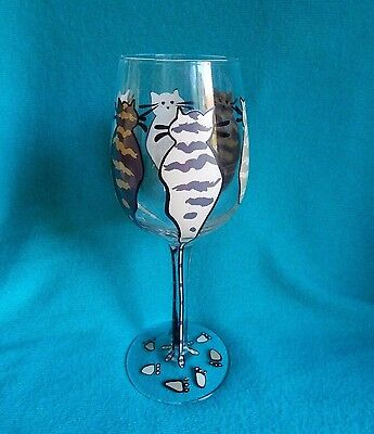 2 Saints Handpainted Wine Glass for the CAT LOVER !