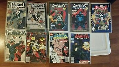 Free Shipping! Marvel Comics Punisher Lot of 9 - Armory, War Journal, and MORE