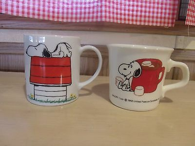 Pair Of Snoopy Mugs, 1958 United Feature Syndicate Inc.