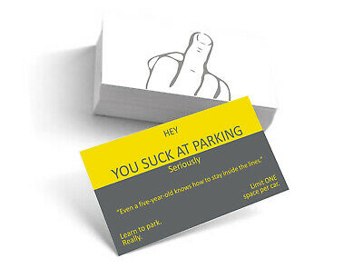 You Suck At Parking Business Cards funny label (10-pack) behind wiper