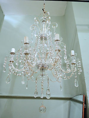 Stunning Large Antique Marie Therese Crystal Chandelier