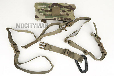 Military Rifle Sling Quick Adjust 2 Point with Multicam Pouch - Genuine USA Made